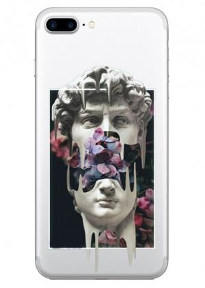 Çiçekli Heykel Kadın Telefon Kılıfı