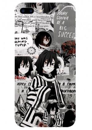 Siyah Beyaz Manga Kolaj Telefon Kılıfı