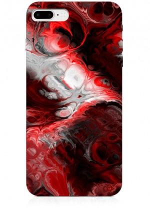 Kırmızı Mermer Desenli Telefon Kılıfı