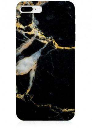 Sarı Siyah Mermer Desenli Telefon Kılıfı