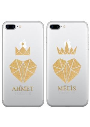 Çiftlere Özel İsimli King - Queen Telefon Kılıfı