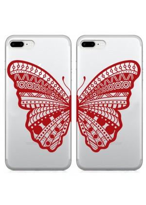 Kelebekli Çift Kapak Telefon Kılıfı