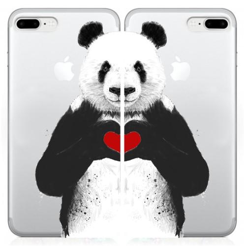 Sevgililere Özel Aşık Panda Telefon Kılıfı