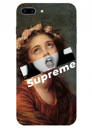 Supreme Çiçek Taçlı Kız Telefon Kılıfı