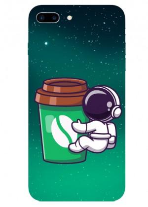 Kahve Sever Astronot Telefon Kılıfı