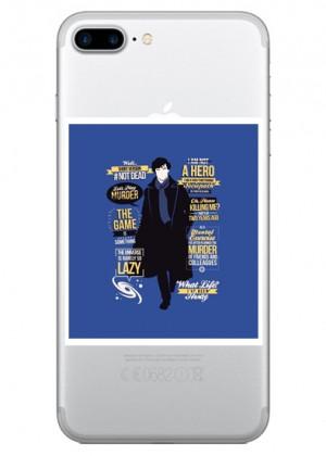 Yazılı Sherlock Holmes Telefon Kılıfı
